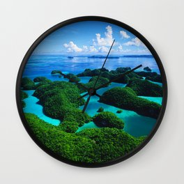 Palau Islands' Tropical Paradise Wall Clock