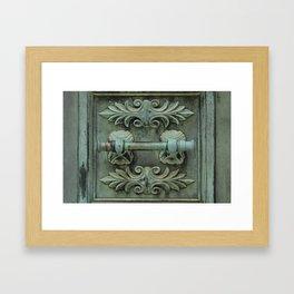 Copper door knob Framed Art Print