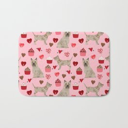Cairn Terrier dog breed valentines day love pet dog person valentine by pet friendly Bath Mat