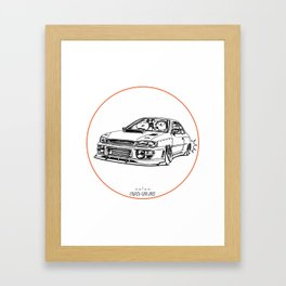 Crazy Car Art 0195 Framed Art Print