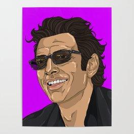 Jeff in Purple Poster