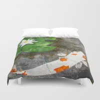 amy pond Duvet Covers featuring Pond by B Hoagland