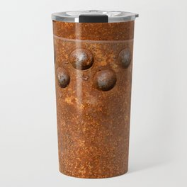 Rusty metal wall surface Travel Mug