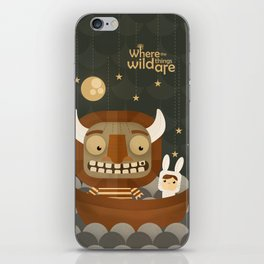 Where the wild things are fan art iPhone Skin