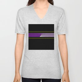 Team Colors 5...Purple,yellow Unisex V-Neck