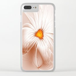 Floral Abstract, Fantasy Flower Fractal Art Clear iPhone Case