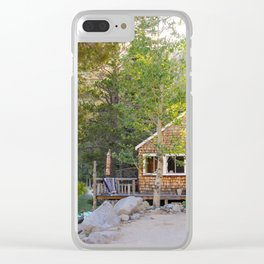 Cabin by the Lake Clear iPhone Case