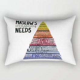 Maslow's Hierarchy of Needs Rectangular Pillow