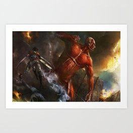 colossal titan appears Art Print