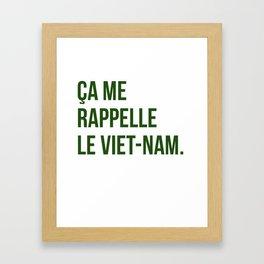 Ca me rappelle le Viet-Nam. Framed Art Print