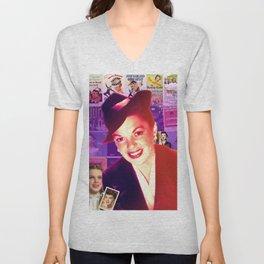 Judy Garland Collage Portrait Unisex V-Neck