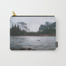Yosemite Valley View with Fog | Yosemite National Park, CA Carry-All Pouch