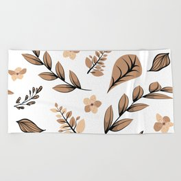Flower Design Series 16 Beach Towel