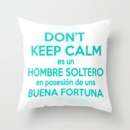 Lema de la Señora Bennet Throw Pillow