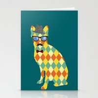 terrier Stationery Cards featuring Argyle Terrier  by David Andrew Sussman