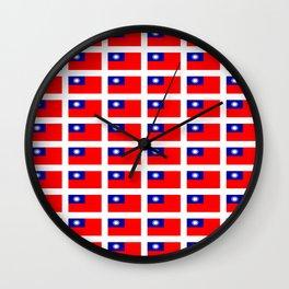 flag of taiwan -formosa,taipei,formosan,Taiwanese,hakka,matsu,台湾,臺灣. Wall Clock
