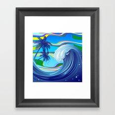 Sea Ocean big Wave Framed Art Print
