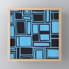 Windows & Frames - Blue Framed Mini Art Print