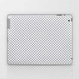 Lilac Gray Polka Dots Laptop & iPad Skin