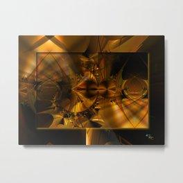 GoldBurst Metal Print