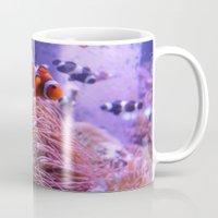 finding nemo Mugs featuring Nemo by Joanna Dickinson