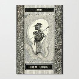Lux in tenebris Canvas Print