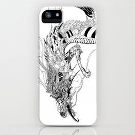 Falling dragon iPhone Case