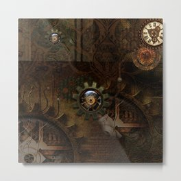Noble steampunk design Metal Print