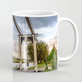 Canal and Bridge in Netherlands at Sunset Coffee Mug