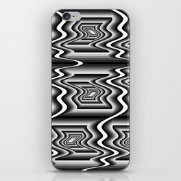Grey Optical Pattern iPhone Skin