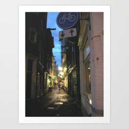 Narrow Alley in Amsterdam Art Print