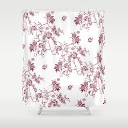 Penis Pattern RED Shower Curtain