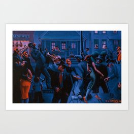 African-American Classical Masterpiece Gettin' Religion by Archibald Motley Art Print