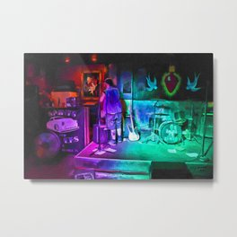 Setting Up The Stage Metal Print