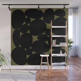 Stone Abstract - Earth Green Wall Mural