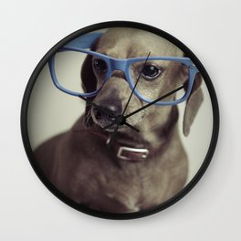 Dogs think they're sooo smart... Wall Clock