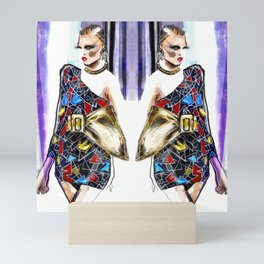 Fashion sketch Mini Art Print