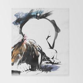 Shibari - Japanese BDSM Art Painting #8 Throw Blanket