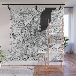 Geneva Map Gray Wall Mural