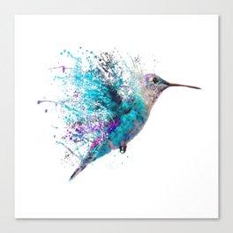 HUMMING BIRD SPLASH Canvas Print