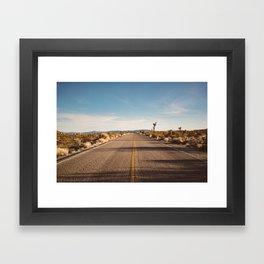 Joshua Tree Road Framed Art Print