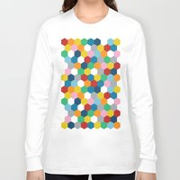 honeycomb Long Sleeve T-shirts featuring Honeycomb 3 by Project M