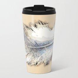 Fair weather feather Travel Mug