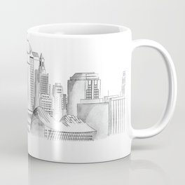Kansas City Skyline in Watercolor Coffee Mug