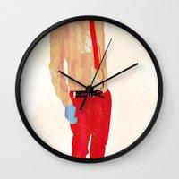 hat Wall Clocks featuring Hat by Alvaro Tapia Hidalgo
