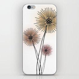 Coral pink Dandelion iPhone Skin