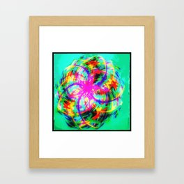 Braid colors - rotation colorful Framed Art Print