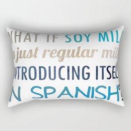 What if soy milk... Rectangular Pillow