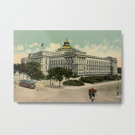 Library of Congress Washington DC 1900s Metal Print