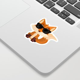 Cool Fox Sticker